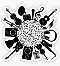 Music Notes  Instrument Collage Sticker