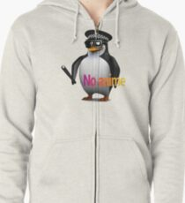 NO anime allowed penguin cop Zipped Hoodie