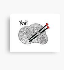 Knit  Canvas Print