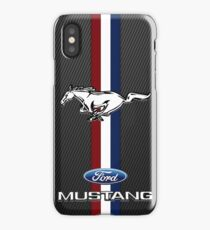 ford mustang emblem Black carbon iPhone Case/Skin