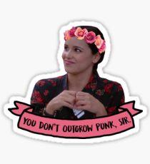 Amy Santiago - You don't outgrow punk, sir Sticker