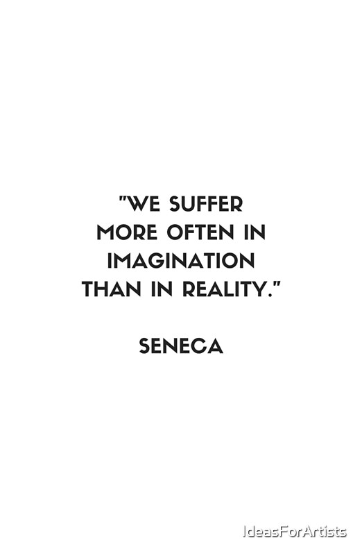 """SENECA Stoic Philosophy Quote"" Framed Prints by ..."