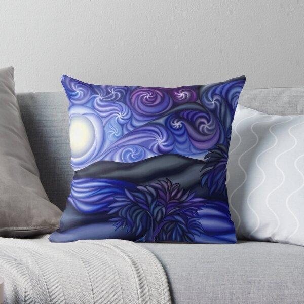 Moon River Nature Scene Throw Pillow