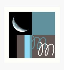 M is for Moon. Art Print