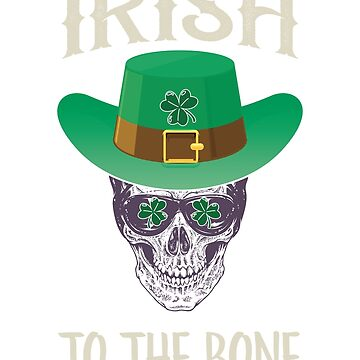 St Patricks Day Shirt Boys Irish To The Bone Shirt by JJDzignsShop