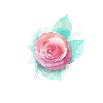 Watercolor Rose  by jrdesign1