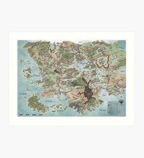 Map of Faerun 4E Art Print