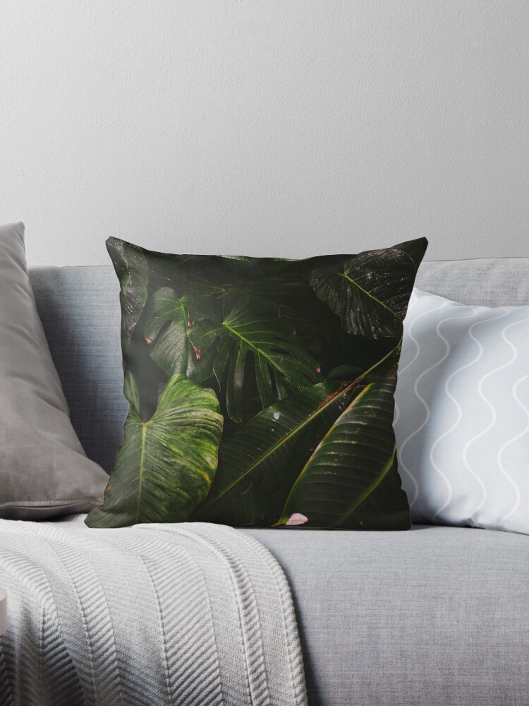 Lost in the foliage jungle print cushion cover by ScotHomeStyle