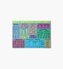 Mathematics Notation Cheat Sheet Art Board