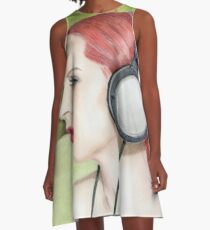 Music is life A-Line Dress