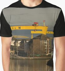Harland and Wolff cranes from the River Lagan Graphic T-Shirt