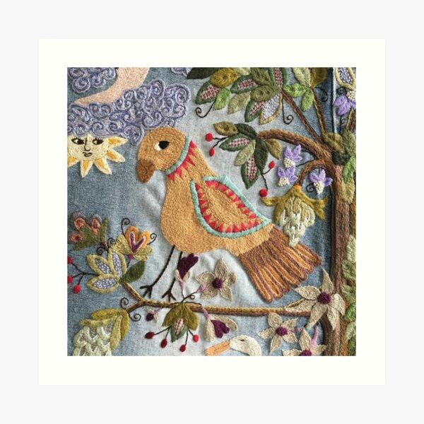 Parrot on Tree Art Print