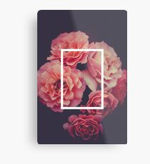 The 1975 Floral Rectangle Metal Print