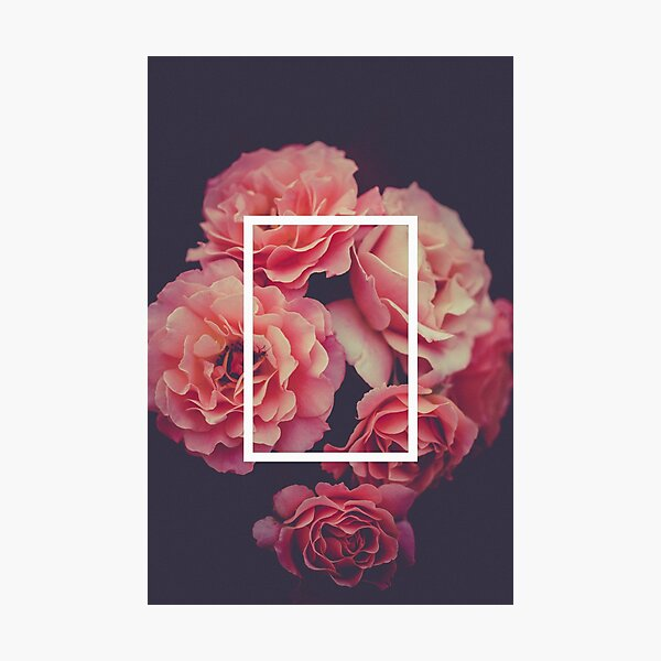 The 1975 Floral Rectangle Photographic Print
