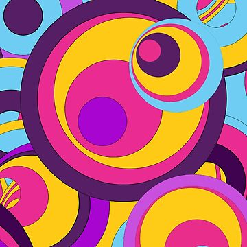 Retro Circles Groovy Colors by Gravityx9