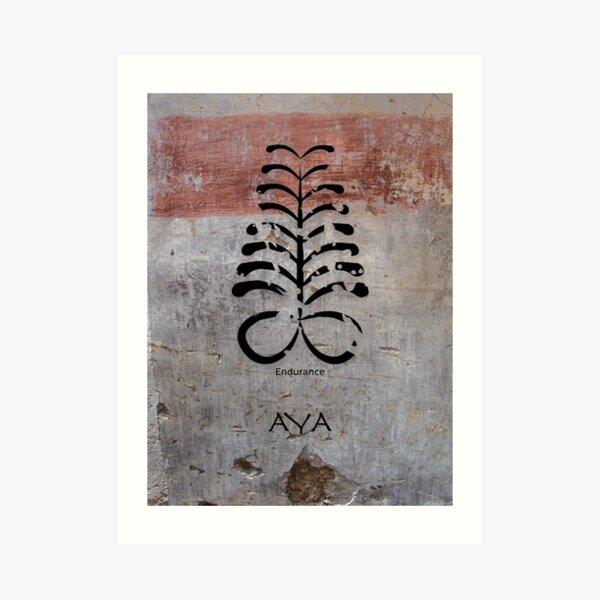 Aya West African Adinkra Symbol Art Print