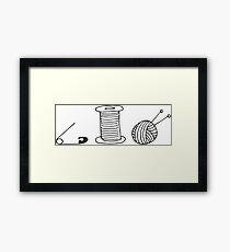 knit knitting Framed Print