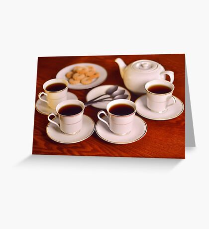Tea with friends  Greeting Card