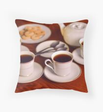 Tea with friends  Throw Pillow