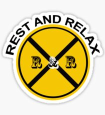 REST AND RELAX Sticker