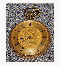 Grandpa's Gold Pocket Watch Photographic Print
