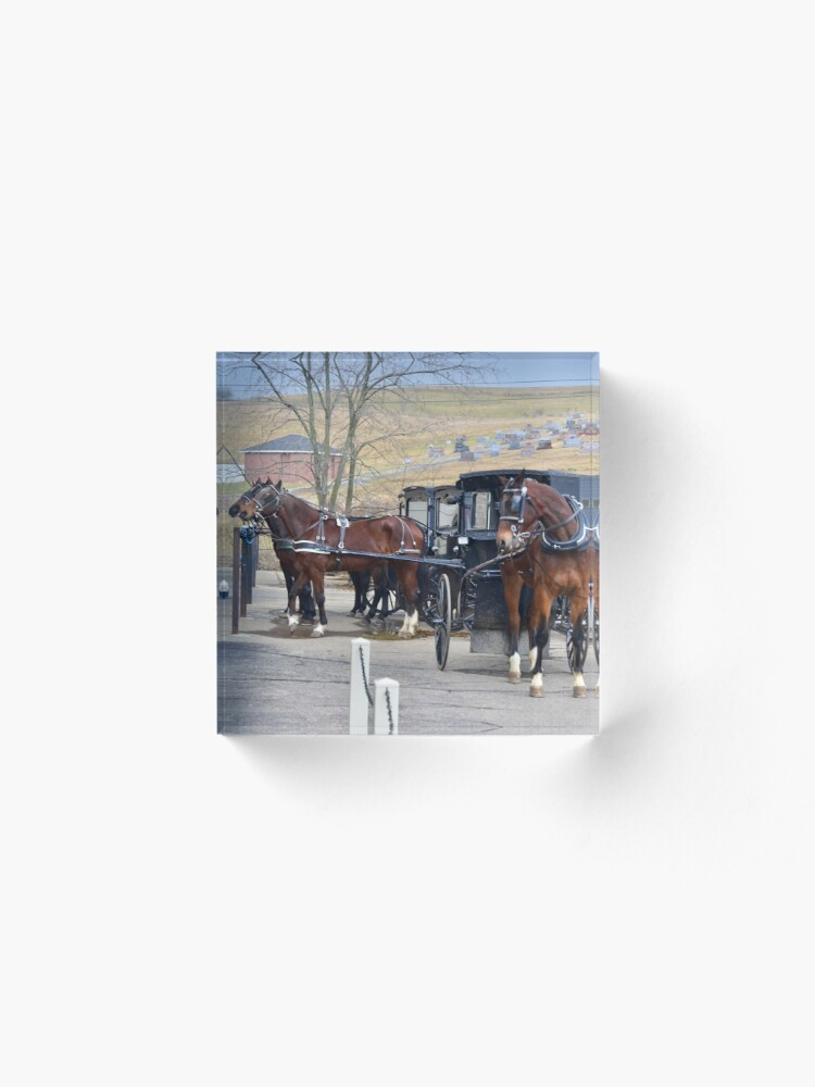 """""""Buggy Parking in Amish Country, Ohio."""" Acrylic Block by ..."""