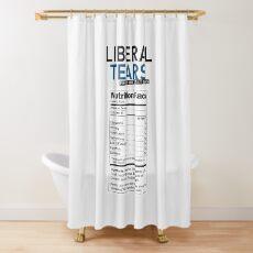BESONDERE lustige Liberal / Democrat Tränen vom Salt Mines Logo mit Zusatzinformationen - Online Store Duschvorhang