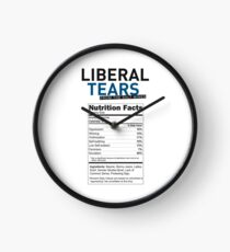 SPECIAL funny Liberal/Democrat Tears From the Salt Mines Logo with supplement facts - Online Store Clock