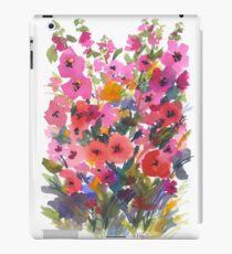 Vinilo o funda para iPad Mi jardín rojo de Hollyhock