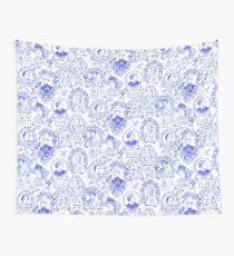 Tela decorativa Pioneros Feministas Toile en Royal Blue con Mujeres de Todo el Mundo