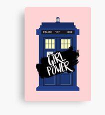 Girl Power Tardis {Doctor Who} Canvas Print