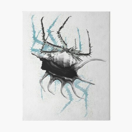 Blue Crab Art Board Print