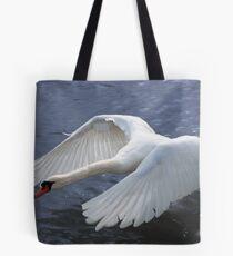 Swan taking off Tote Bag