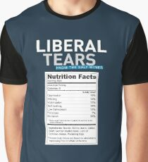 SPECIAL Liberal/Democrat Tears From the Salt Mines Logo with salty tears supplement facts - Online Store Graphic T-Shirt