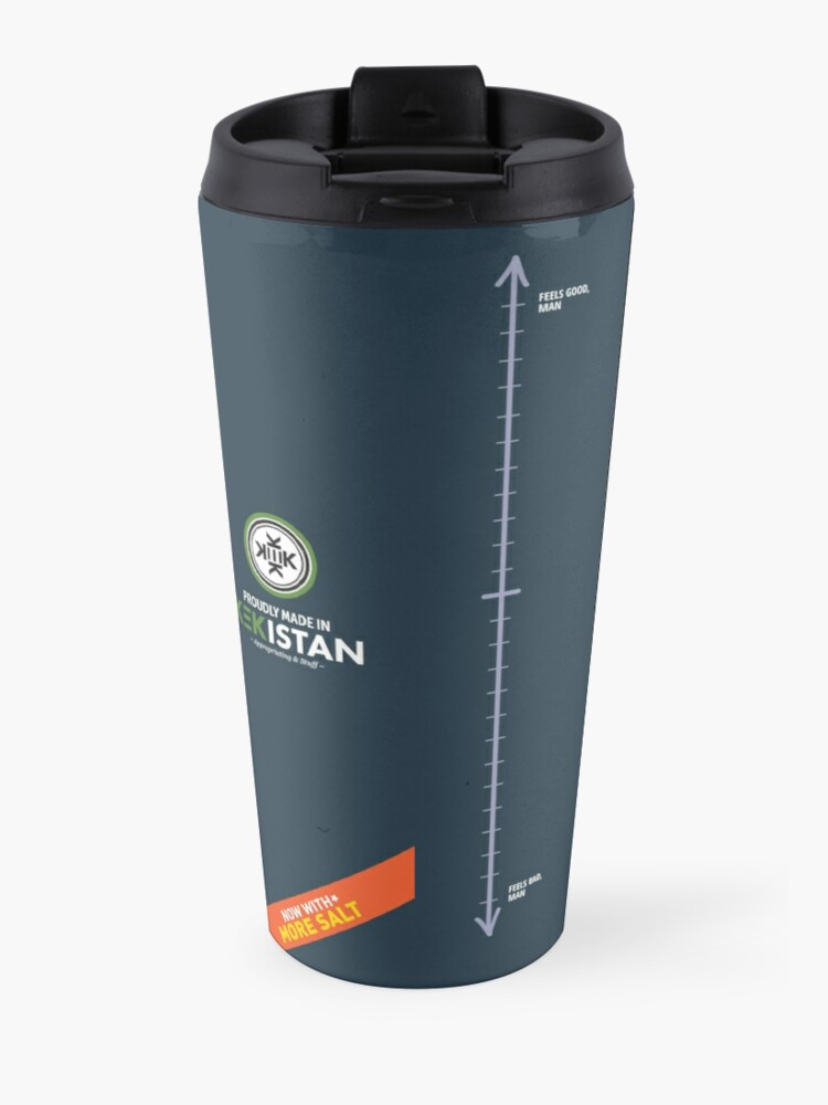 Alternate view of SPECIAL Liberal/Democrat Tears From the Salt Mines Logo with salty tears supplement facts - Online Store Travel Mug