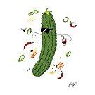Big Funky Pickle  by Cardsbyakid
