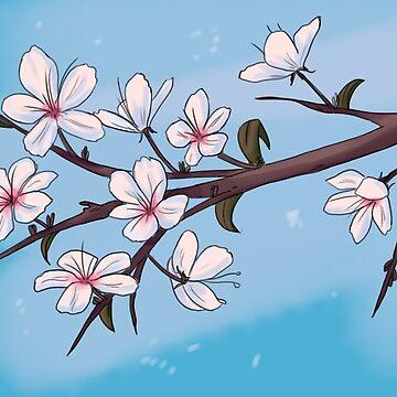 Blue Cherry Blossom by HungryRam45