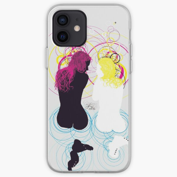 black girl white girl (and cyan magenta yellow) iPhone Soft Case