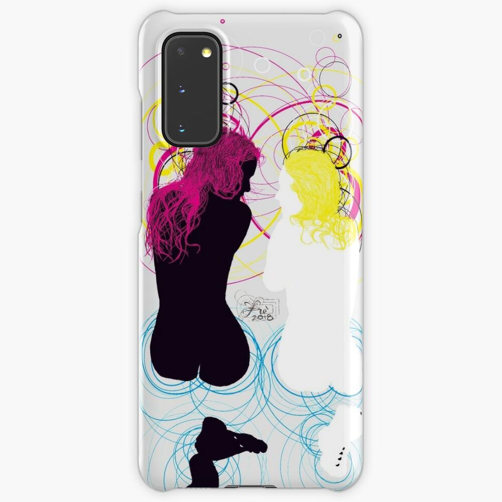 black girl white girl (and cyan magenta yellow) Case & Skin for Samsung Galaxy