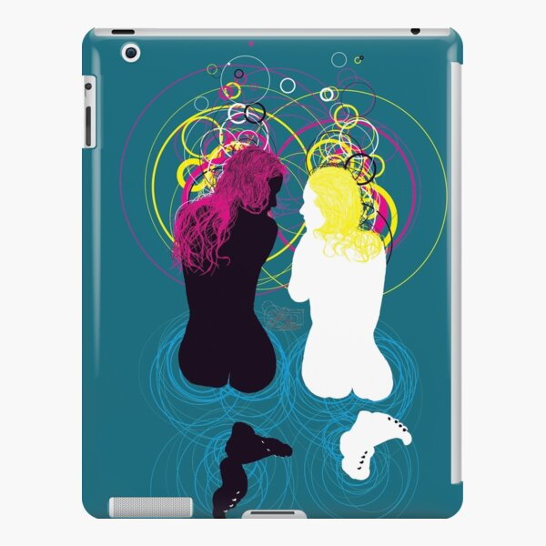black girl white girl (and cyan magenta yellow) iPad Snap Case