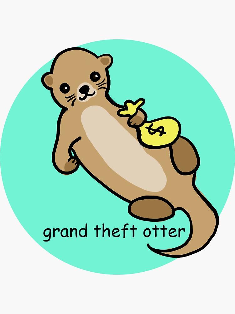 Großartiger Diebstahl-Otter von ienjoycatsss