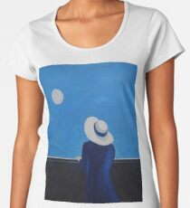 The woman and the moon Women's Premium T-Shirt