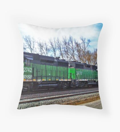 Plane Train - Orton Series Throw Pillow