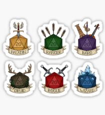 D&D - D20 - Mini Class Selection Sticker