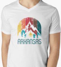 Retro Arkansas T Shirt for Men Women and Kids Men's V-Neck T-Shirt