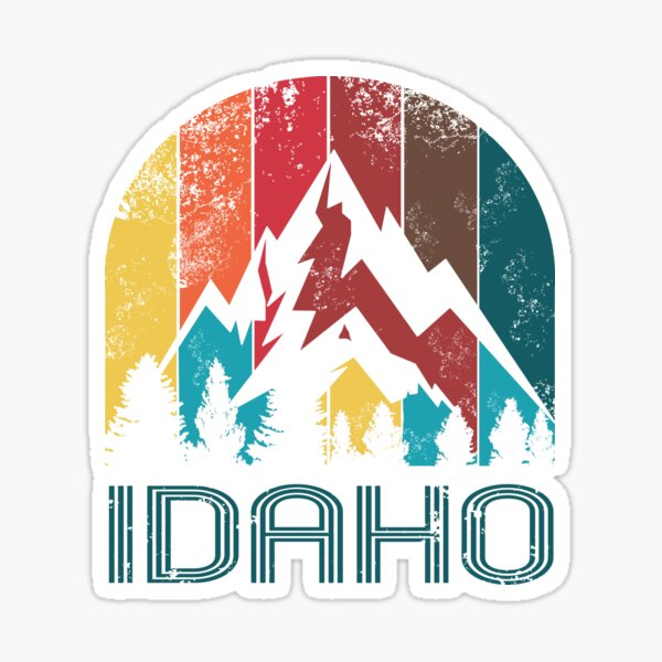 Retro Idaho Design for Men Women and Kids Sticker