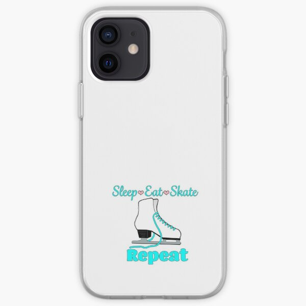Sleep-Eat-Skate-Repeat in Turquoise  iPhone Soft Case