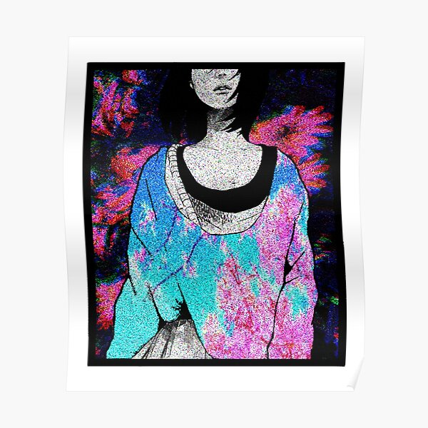 Sad Japanese Manga Girl Sexy Anime Shirt Vaporwave Aesthetic Poster By Rmorra Redbubble