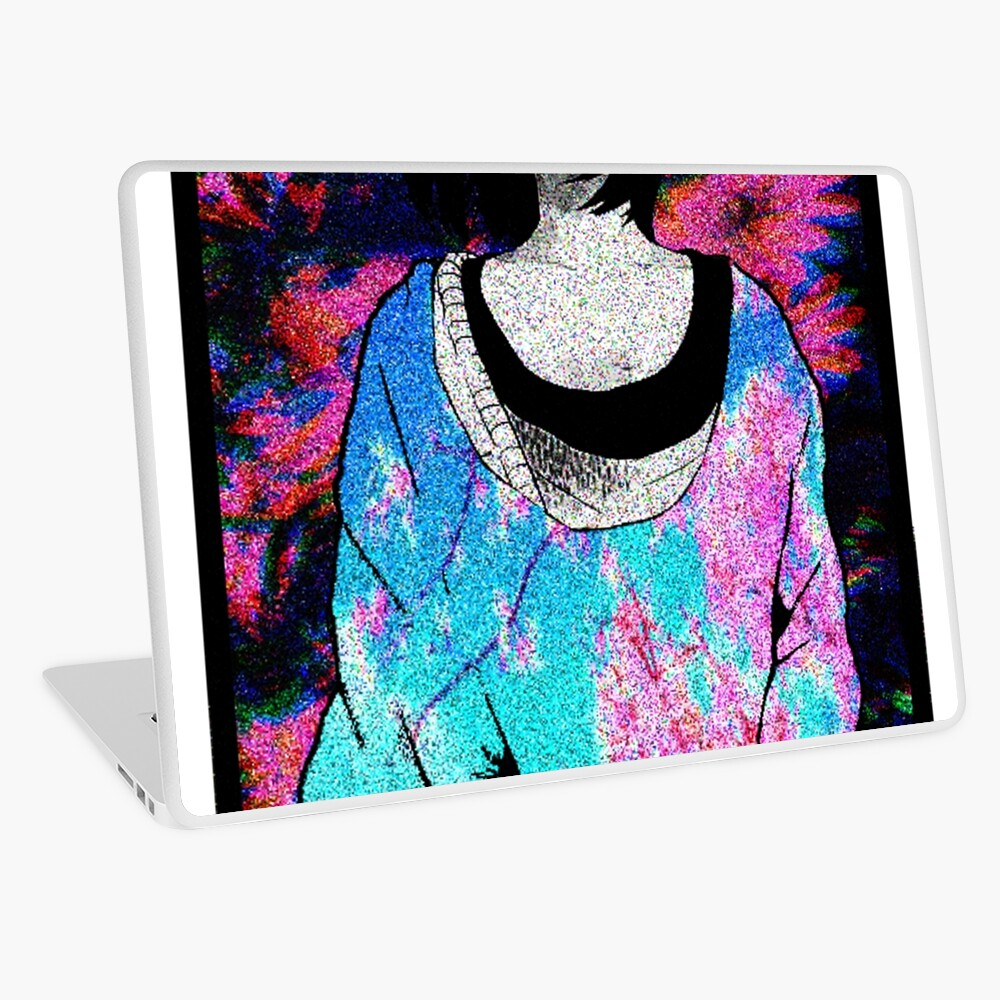 Sad Japanese Manga Girl Sexy Anime Shirt Vaporwave Aesthetic Laptop Skin By Rmorra Redbubble