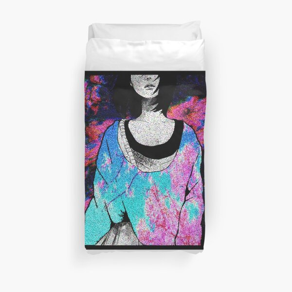 Sad Japanese Manga Girl Sexy Anime Shirt Vaporwave Aesthetic Duvet Cover By Rmorra Redbubble